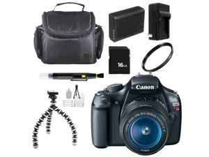 Canon EOS Rebel T3 Digital SLR Camera with 18-55mm IS Lens 9 Peice Bundle