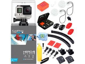 GoPro Hero 4 Silver Ultimate Surf kit - includes surfboard mounts, arm mounts, floating handle and more