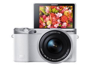 Samsung NX500 28.2 MP Digital camera - 4K - Mirrorless - White - NX 16-50mm F3.5-5.6 Power Zoom ED OIS lens