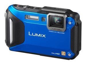 "Panasonic LUMIX DMC-TS5A 16.1 MP 3.0"" 460K WiFi Enabled Lifestyle Tough Camera Blue"