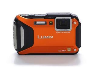 "Panasonic LUMIX DMC-TS5A 16.1 MP 3.0"" 460K WiFi Enabled Lifestyle Tough Camera Orange"