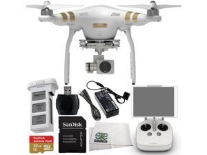 DJI Phantom 3 Professional Quadcopter Drone with 4K UHD Video Camera Starter Kit--Includes SanDisk  Memory Card + High Speed Memory Card Reader