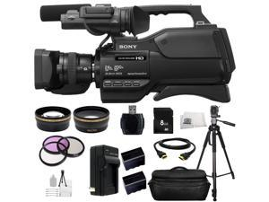 Sony HXR-MC2500 HXRMC2500 Shoulder Mount AVCHD Camcorder (Black) 8GB Bundle 24PC Accessory Kit. Includes 8GB Memory Card + High Speed Memory Card Reader + 2 Replacement NP-F970 Batteries + MORE