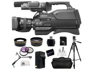 Sony HXR-MC2500 HXRMC2500 Shoulder Mount AVCHD Camcorder (Black) 16GB Bundle 23PC Accessory Kit. Includes 16GB Memory Card + High Speed Memory Card Reader + Replacement NP-F970 Battery + MORE