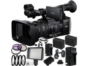 Sony FDR-AX1 Digital 4K Video Camera Recorder 22PC Accessory Kit. Includes 2 Replacement F970 Batteries + AC/DC Rapid Home & Travel Charger + 3PC (UV-CPL-FLD) + 4PC (+1,+2,+4,+10) + MORE