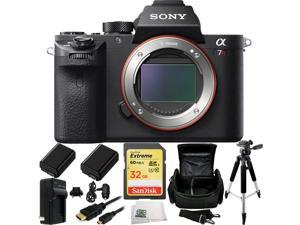 Sony Alpha a7R Mark II a7R II a7RII ILCE7RM2/B Mirrorless Camera 32GB Bundle 8PC Accessory Kit. Includes SanDisk 32GB Extreme SDHC Memory Card (SDSDXN-032G-G46) + 2 Replacement FW-50 Batteries + MORE