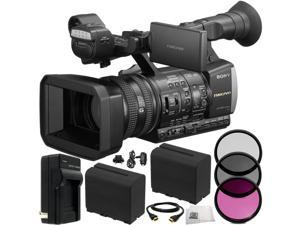 Sony HXR-NX3/1 NXCAM Professional Handheld Camcorder 10PC Accessory Kit. Includes 3PC Filter Kit (UV-CPL-FLD) + 2 Extended Life Replacement F970 Batteries + AC/DC Rapid Home & Travel Charger + MORE