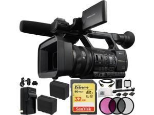 Sony HXR-NX5N NXCAM Professional Camcorder 32GB Bundle 17PC Accessory Kit. Includes SanDisk 32GB Extreme SDHC Memory Card + 2 Replacement F970 Battteries + AC/DC Rapid Home & Travel Charger + MORE