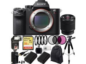 Sony Alpha a7R Mark II a7RII ILCE7RM2/B Mirrorless Camera with Sony FE 28-70mm f/3.5-5.6 OSS Lens 17PC Bundle. Includes SanDisk 32GB Extreme SDHC Memory Card + 2 Replacement FW-50 Batteries + MORE