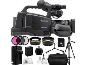 Panasonic AG-HMC80 3MOS AVCCAM HD Shoulder-Mount Camcorder 23PC Accessory Kit. Includes 16GB Memory Card + High Speed Memory Card Reader + Replacement VW-VBG6 Battery + MORE