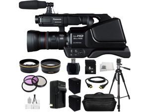 Panasonic AG-AC8PJ Shoulder Mount Video Camera with 3-Inch LCD (Black) + Huge SSE Accessories Bundle. Includes 8GB Memory Card + High Speed Memory Card Reader + Replacement VW-VBG6 Battery + MORE