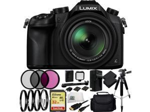 Panasonic Lumix DMC-FZ1000 Digital Camera (Black) 21PC Accessory Kit. Includes SanDisk Extreme 32GB SDHC Memory Card + 2 Replacement BLC-12 Batteries + AC/DC Rapid Home & Travel Charger + MORE