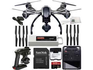 YUNEEC Q500 4K Typhoon Quadcopter with CGO3-GB Camera (RTF) + SanDisk Extreme PRO 32GB UHS-I/U3 Micro SDHC Memory Card (SDSDQXP-032G-G46A) + SSE Transmitter Lanyard + Microfiber Cleaning Cloth