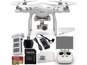 DJI Phantom 3 Advanced Quadcopter Drone with 1080p HD Video Camera Starter Kit. Includes SanDisk Extreme 32GB microSDHC Memory Card (SDSDQXN-032G-G46A) + High Speed Memory Card Reader + MORE