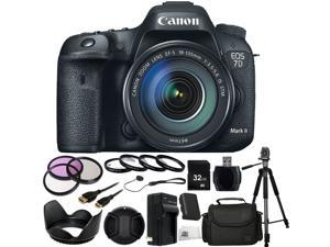 Canon EOS 7D Mark II Digital SLR Camera with 18-135mm IS STM Lens 32GB Bundle 17PC Accessory Kit. Includes 32GB Memory Card + High Speed Memory Card Reader + 3PC Filter Kit (UV-CPL-FLD) + MORE