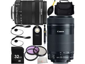 MUST HAVE Dual Lens Kit for Canon Rebel T1i, T2, T3i, T4i, T5i, T6i, T6s, SL1, 60D, 70D, 7D, 7D Mark II 760D 750D Digital SLR Cameras