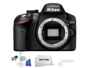 Nikon D3200 DSLR (Body Only) (International Version - No Warranty) + Power Bank + 5 Piece Starter Kit + Microfiber Cleaning Cloth