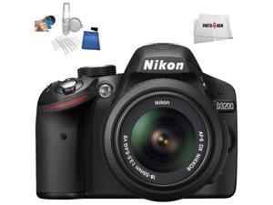 Nikon D3200 DSLR + Nikon AF-S 18-55mm f/3.5-5.6 DX VR  - International Version (No Warranty)