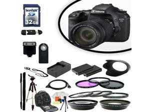 Canon EOS 7D Digital SLR Camera With 18-135mm Lens & Ultimate Accessory Bundle
