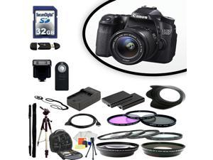 Canon EOS 70D Digital SLR Camera With 18-55mm Lens & Ultimate Accessory Bundle