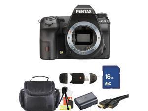 PENTAX K-3 Black 23.35 MP Digital SLR Camera Body Kit