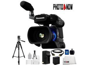 Panasonic AG-AC8PJ Shoulder Mount Video Camera with 3-Inch LCD (Black) With Essentials Bundle