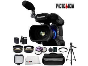 Panasonic AG-AC8PJ Shoulder Mount Video Camera with 3-Inch LCD (Black) With Advanced Bundle