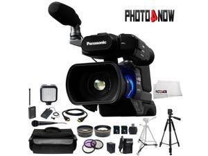 Panasonic AG-AC8PJ Shoulder Mount Video Camera with 3-Inch LCD (Black) With Professional Bundle