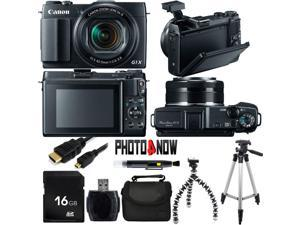 Canon PowerShot G1 X Mark II 9167B001 Black 12.8 MP 5X Optical Zoom 24mm Wide Angle Digital Camera With Essential Bundle