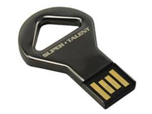 SuperTalent 16GB CKB Nickel Key Shaped USB Flash Drive. Shock and water resistant. 200X Read Write speed. Model STU16GCKBN