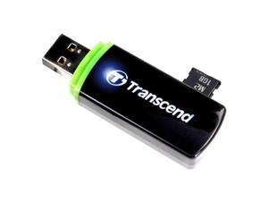 Transcend External USB 2.0 Card Reader For SD SDHC SDXC microSD M2 Color Black Model TS-RDP5K