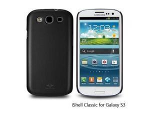 Shield classic iShell Black Snap-On Case + High Quality Screen Protector for Samsung Galaxy S3 i9300 Model CS-SAM-i9300-BL