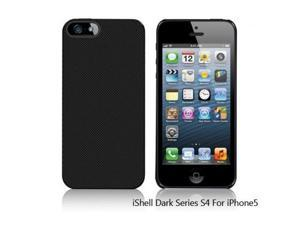 Shield iShell Dark Checker Snap-On Case + High Quality Screen Protector for iPhone 5 Model CS-APP-iP5-CHECK