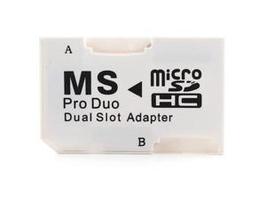 NEON MicroSD or microSDHC to Memory Stick PRO Duo adapter. Dual slot adapter for 2 Micro Cards Model NEODUO2xAD