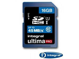 Integral 16GB Ultima Pro SDHC UHS-1 Memory Card Class 10 High Speed 45MB\Sec Model INSDH16G10-45