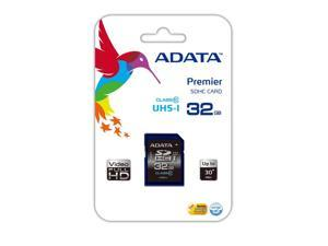 ADATA 32GB Premier SDHC Class 10 UHS-1 30MB/S Memory Card. Model ASDH32GUICL10-R