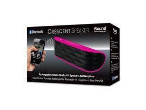 ISOUND Crescent Rechargeable Portable Bluetooth Speaker & Speakerphone - Pink. Model ISOUND-5328