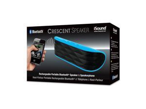 ISOUND Crescent Rechargeable Portable Bluetooth Speaker & Speakerphone - Blue. Model ISOUND-5329
