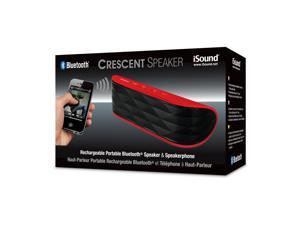ISOUND Crescent Rechargeable Portable Bluetooth Speaker & Speakerphone - Red. Model ISOUND-5330