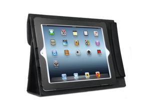 ISOUND 100% Genuine Leather Keyboard Portfolio Travel Case for iPad 2, iPad 3 - Black. Model ISOUND-4725
