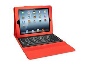 ISOUND Honeycomb Keyboard Portfolio Case with Removable Bluetooth Keyboard for iPad 2, 3rd Gen - Red. Model ISOUND-4734