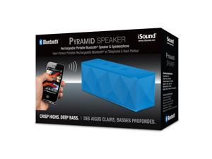 ISOUND Pyramid Rechargeable Portable Bluetooth Speaker & Speakerphone - Blue. Model ISOUND-5241