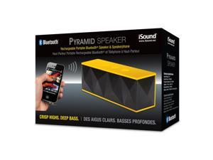 ISOUND Pyramid Rechargeable Portable Bluetooth Speaker & Speakerphone - Yellow. Model ISOUND-5242