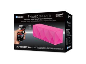 ISOUND Pyramid Rechargeable Portable Bluetooth Speaker & Speakerphone - Pink. Model ISOUND-5358