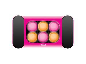 ISOUND iGlowsound Speaker System Dancing Light Speaker for iPod, iPhone, iPad, or Audio Device with a 3.5mm Audio Jack - Pink. Model ISOUND-5248