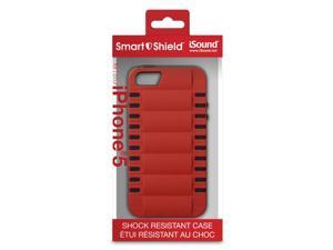 ISOUND Smart Shield Shock Resistant Case for iPhone 5 - Red/Black. Model ISOUND-5281