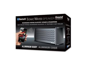 ISOUND Sonic Waves Bluetooth Speaker + Speakerphone for Phones, Tablets, Laptops, & other Audio Devices - Black Model ISOUND-5302