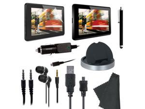 ISOUND Essentials Kit 9 Essential Items for Kindle Fire - Black/Grey Model ISOUND-3402
