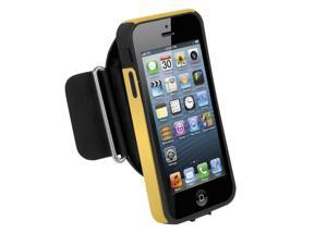 ISOUND Sport Armband Pro Removable Protective Case with 2 Adjustable Armbands & Safety Reflectors for iPhone 5 - Yellow. Model ISOUND-5311