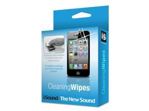 ISOUND Cleaning Wipes 20 Cleaning Wipes Designed for Mobile Screens & Portable Devices - Clear. Model ISOUND-4716